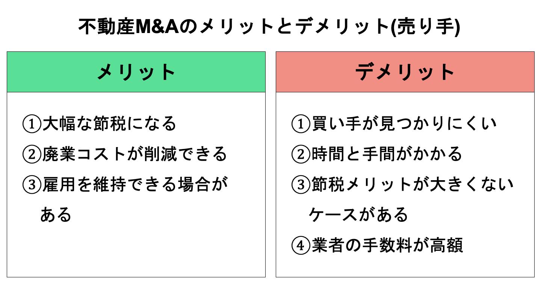 不動産M&A 売り手メリット