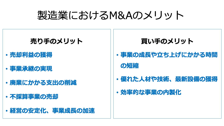 製造業 M&A メリット