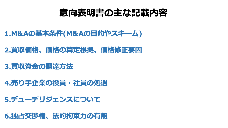 M&A 意向表明書(FV)
